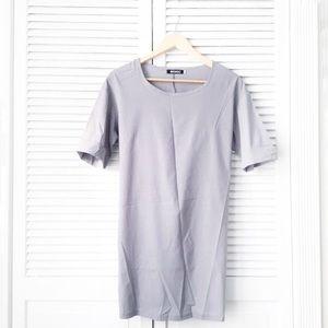 Choies Grey Sheath Shirt Dress NWOT